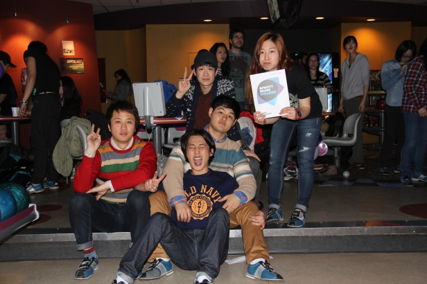 Sprott Shaw College students at Bowling Night co-sponsored by A Plus